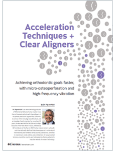 Acceleration Techniques + Clear Aligners Journal Cover